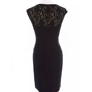 Lauren Ralph Lauren Dresses - Lauren Ralph Lauren Lace Ruched Dress Black Sz 6